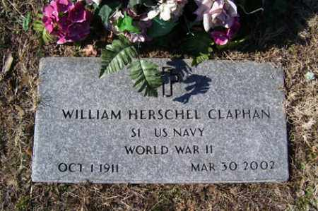 CLAPHAN (VETERAN WWII), WILLIAM HERSCHEL - Crawford County, Arkansas | WILLIAM HERSCHEL CLAPHAN (VETERAN WWII) - Arkansas Gravestone Photos