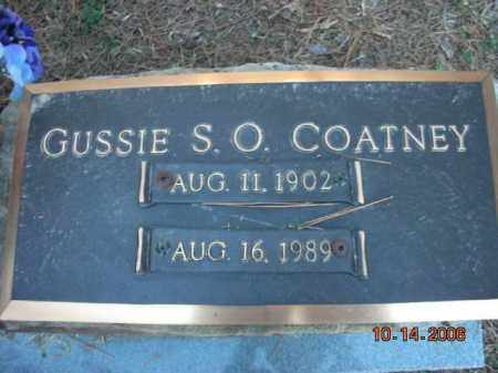 COATNEY, GUSSIE S.O. - Crawford County, Arkansas | GUSSIE S.O. COATNEY - Arkansas Gravestone Photos