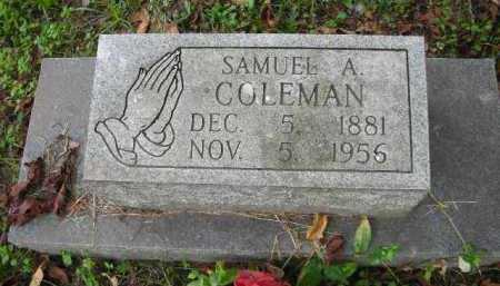 COLEMAN, SAMUEL A. - Crawford County, Arkansas | SAMUEL A. COLEMAN - Arkansas Gravestone Photos