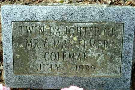 COLEMAN, TWIN DAUGHTER - Crawford County, Arkansas | TWIN DAUGHTER COLEMAN - Arkansas Gravestone Photos