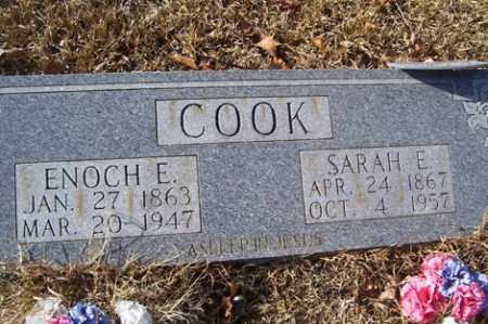 COOK, ENOCH E - Crawford County, Arkansas | ENOCH E COOK - Arkansas Gravestone Photos