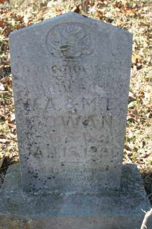 COWAN, INFANT SON - Crawford County, Arkansas | INFANT SON COWAN - Arkansas Gravestone Photos