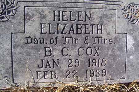 COX, HELEN ELIZABETH - Crawford County, Arkansas | HELEN ELIZABETH COX - Arkansas Gravestone Photos