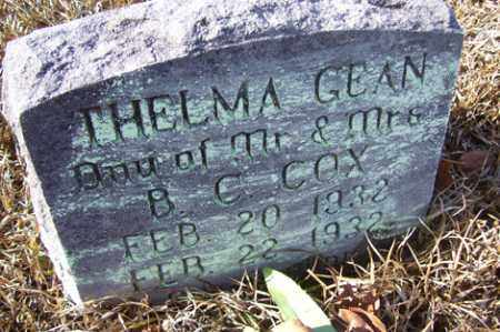 COX, THELMA GEAN - Crawford County, Arkansas | THELMA GEAN COX - Arkansas Gravestone Photos