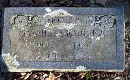 CRADDUCK, SARAH A - Crawford County, Arkansas | SARAH A CRADDUCK - Arkansas Gravestone Photos