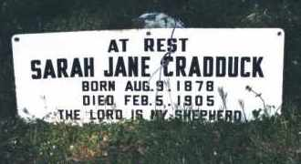 CRADDUCK, SARAH JANE - Crawford County, Arkansas | SARAH JANE CRADDUCK - Arkansas Gravestone Photos