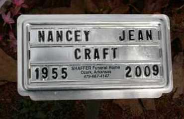 CRAFT, NANCEY JEAN - Crawford County, Arkansas | NANCEY JEAN CRAFT - Arkansas Gravestone Photos