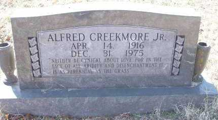 CREEKMORE, JR, ALFRED - Crawford County, Arkansas | ALFRED CREEKMORE, JR - Arkansas Gravestone Photos