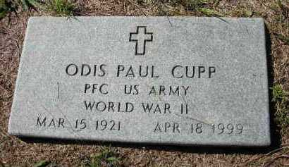 CUPP (VETERAN WWII), ODIS PAUL - Crawford County, Arkansas | ODIS PAUL CUPP (VETERAN WWII) - Arkansas Gravestone Photos