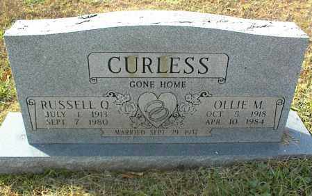 CURLESS, RUSSELL Q. - Crawford County, Arkansas | RUSSELL Q. CURLESS - Arkansas Gravestone Photos