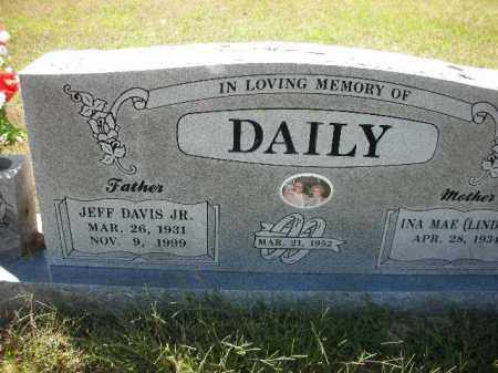 DAILY, JEFF DAVIS JR. - Crawford County, Arkansas | JEFF DAVIS JR. DAILY - Arkansas Gravestone Photos