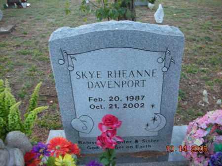 DAVENPORT, SKYE RHEANNE - Crawford County, Arkansas | SKYE RHEANNE DAVENPORT - Arkansas Gravestone Photos