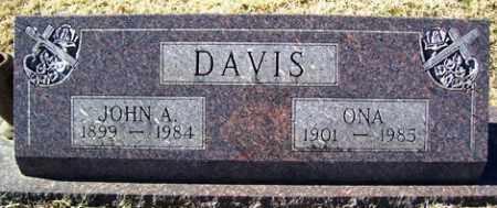 DAVIS, JOHN A - Crawford County, Arkansas | JOHN A DAVIS - Arkansas Gravestone Photos