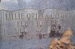DEFORD, LILLIE ORILLA - Crawford County, Arkansas | LILLIE ORILLA DEFORD - Arkansas Gravestone Photos