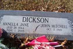 DICKSON, ANNELLA JANE - Crawford County, Arkansas | ANNELLA JANE DICKSON - Arkansas Gravestone Photos