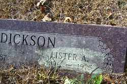 DICKSON, LISTER A - Crawford County, Arkansas | LISTER A DICKSON - Arkansas Gravestone Photos