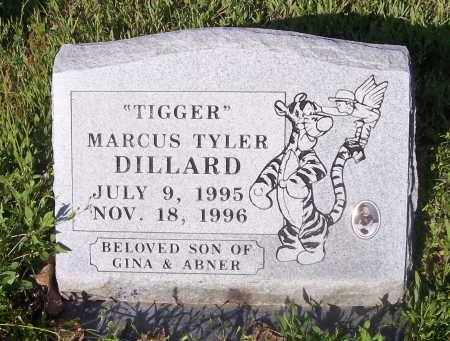 "DILLARD, MARCUS TYLER ""TIGGER"" - Crawford County, Arkansas | MARCUS TYLER ""TIGGER"" DILLARD - Arkansas Gravestone Photos"