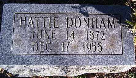 BAXLEY DONHAM, HATTIE - Crawford County, Arkansas | HATTIE BAXLEY DONHAM - Arkansas Gravestone Photos