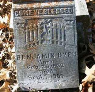 DYER, BENJAMIN - Crawford County, Arkansas | BENJAMIN DYER - Arkansas Gravestone Photos