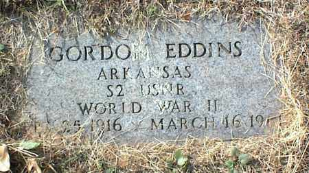 EDDINS (VETERAN WWII), GORDON - Crawford County, Arkansas | GORDON EDDINS (VETERAN WWII) - Arkansas Gravestone Photos