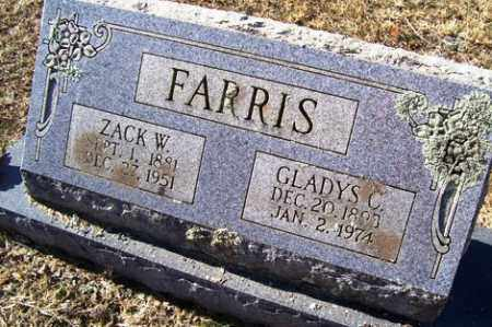 "FARRIS, ZACKERY WASHINGTON ""ZACK"" - Crawford County, Arkansas 