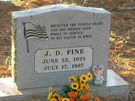 FINE  (VETERAN WWII), J D - Crawford County, Arkansas | J D FINE  (VETERAN WWII) - Arkansas Gravestone Photos