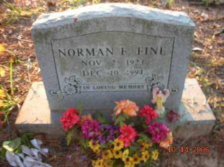 FINE, NORMAN F. - Crawford County, Arkansas | NORMAN F. FINE - Arkansas Gravestone Photos