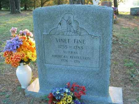 FINE (VETERAN RW), VINET - Crawford County, Arkansas | VINET FINE (VETERAN RW) - Arkansas Gravestone Photos