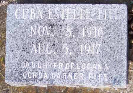 FITE, CUBA ESTELLE - Crawford County, Arkansas | CUBA ESTELLE FITE - Arkansas Gravestone Photos