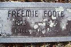 FOOTE, FREEMIE - Crawford County, Arkansas | FREEMIE FOOTE - Arkansas Gravestone Photos