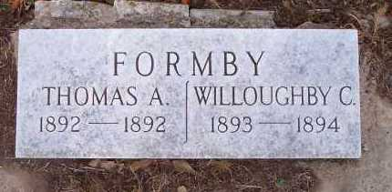 FORMBY, THOMAS A - Crawford County, Arkansas | THOMAS A FORMBY - Arkansas Gravestone Photos
