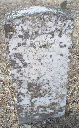 FOX  (VETERAN), GEORGE SAMUEL - Crawford County, Arkansas | GEORGE SAMUEL FOX  (VETERAN) - Arkansas Gravestone Photos