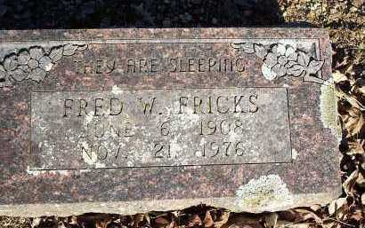 FRICKS, FRED W. - Crawford County, Arkansas | FRED W. FRICKS - Arkansas Gravestone Photos