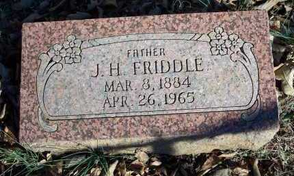 FRIDDLE, J H - Crawford County, Arkansas | J H FRIDDLE - Arkansas Gravestone Photos