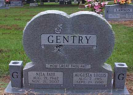 LOLLIS GENTRY, AUGUSTA - Crawford County, Arkansas | AUGUSTA LOLLIS GENTRY - Arkansas Gravestone Photos