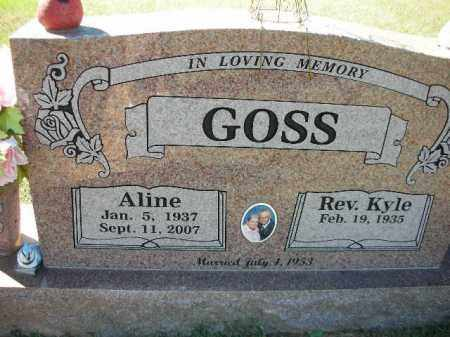 GOSS, ALINE - Crawford County, Arkansas | ALINE GOSS - Arkansas Gravestone Photos