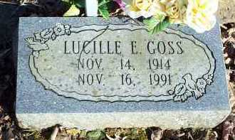 GOSS, LUCILLE E. - Crawford County, Arkansas | LUCILLE E. GOSS - Arkansas Gravestone Photos
