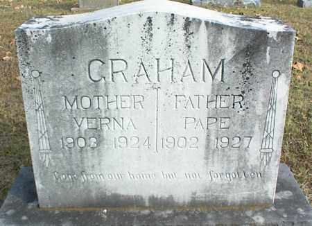 GRAHAM, PAPE - Crawford County, Arkansas | PAPE GRAHAM - Arkansas Gravestone Photos