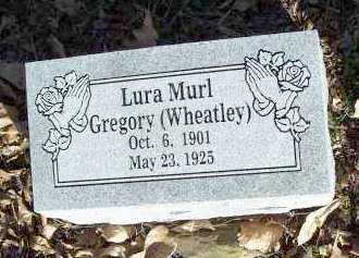 WHEATLEY GREGORY, LURA MURL - Crawford County, Arkansas | LURA MURL WHEATLEY GREGORY - Arkansas Gravestone Photos