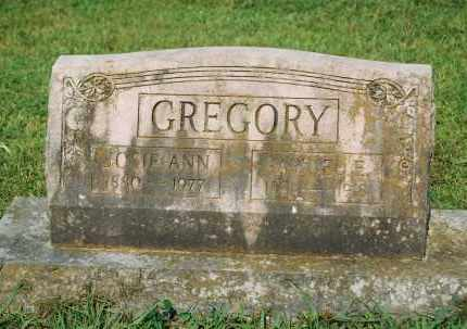 GREGORY, JOSIE ANN - Crawford County, Arkansas | JOSIE ANN GREGORY - Arkansas Gravestone Photos