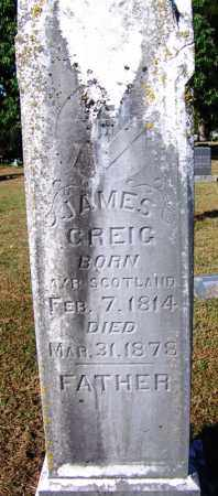 GREIG, JAMES - Crawford County, Arkansas | JAMES GREIG - Arkansas Gravestone Photos