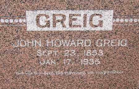 GREIG, JOHN HOWARD - Crawford County, Arkansas | JOHN HOWARD GREIG - Arkansas Gravestone Photos
