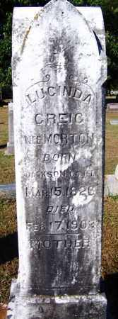 MORTON GREIG, LUCINDA - Crawford County, Arkansas | LUCINDA MORTON GREIG - Arkansas Gravestone Photos
