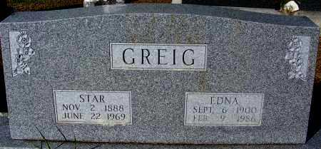 GREIG, EDNA - Crawford County, Arkansas | EDNA GREIG - Arkansas Gravestone Photos