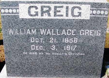 GREIG, WILLIAM WALLACE - Crawford County, Arkansas | WILLIAM WALLACE GREIG - Arkansas Gravestone Photos
