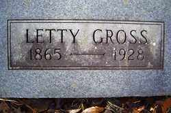 GROSS, LETTY - Crawford County, Arkansas | LETTY GROSS - Arkansas Gravestone Photos
