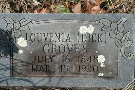 DICK GROVES, LOUVENIA - Crawford County, Arkansas | LOUVENIA DICK GROVES - Arkansas Gravestone Photos