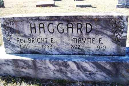 HAGGARD,REV, BRIGHT E - Crawford County, Arkansas | BRIGHT E HAGGARD,REV - Arkansas Gravestone Photos