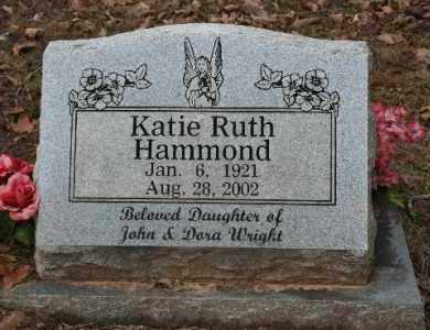 WRIGHT HAMMOND, KATIE - Crawford County, Arkansas | KATIE WRIGHT HAMMOND - Arkansas Gravestone Photos