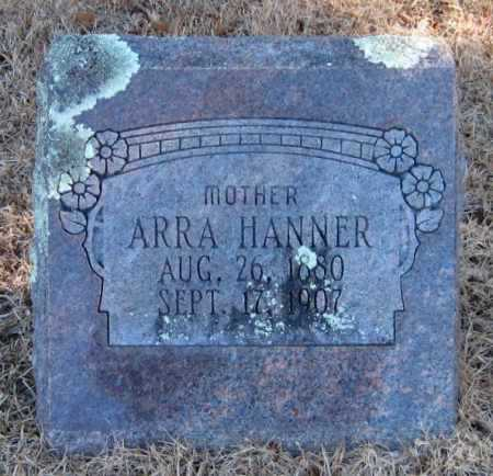 HANNER, ARRA - Crawford County, Arkansas | ARRA HANNER - Arkansas Gravestone Photos